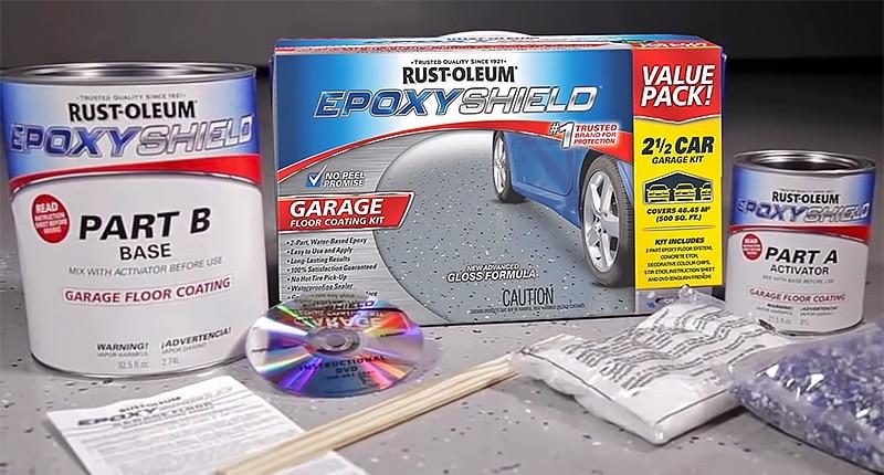 Rust-Oleum EpoxyShield concrete floor coating kit