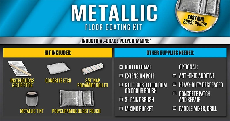 Rust-Oleum Rocksolid Metallic Floor Coating