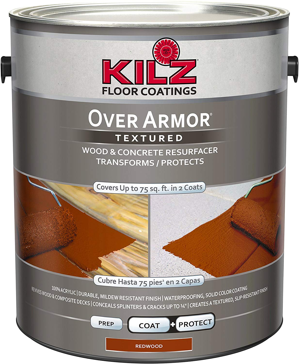 KILZ Over Armor Textured Wood/Concrete Coating review