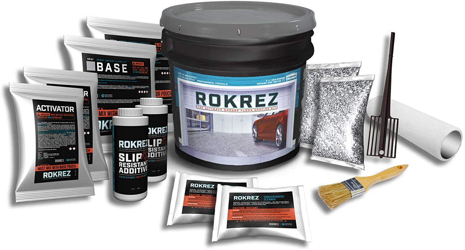 ROKREZ 2.5 Car Garage Epoxy Floor Kit review