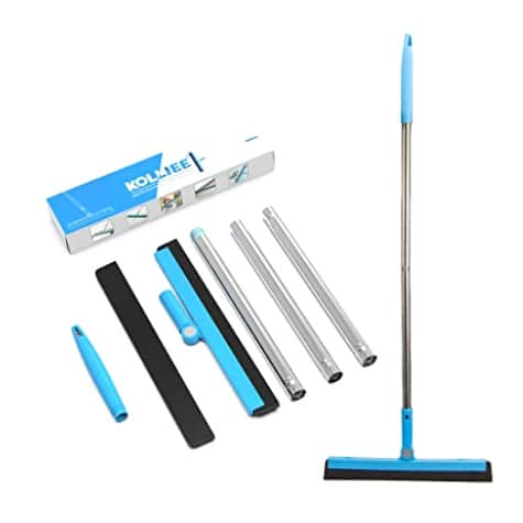 KOLLIEE Floor Squeegee Adjustable Professional Water Squeegee Foam