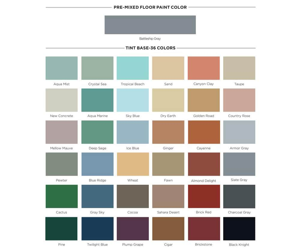 Garage Floor Paint Colors You Should