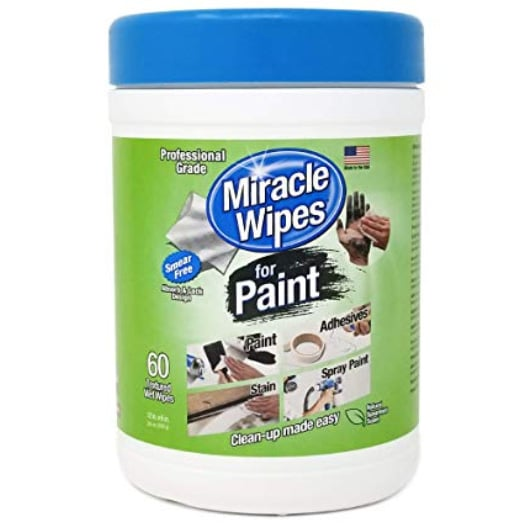 MiracleWipes for Paint Cleanup - All Purpose Cleaner, Brushes, Wet Paint, Caulking, Hands, Epoxy, Acrylic