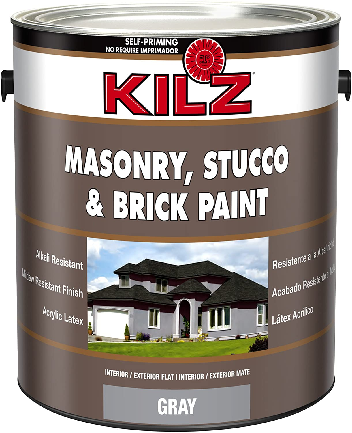 KILZ Interior/Exterior Self-Priming Masonry, Stucco & Brick Paint
