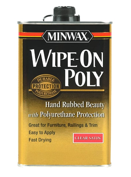 Minwax 40910000 Wipe-On Poly Finish Clear Satin