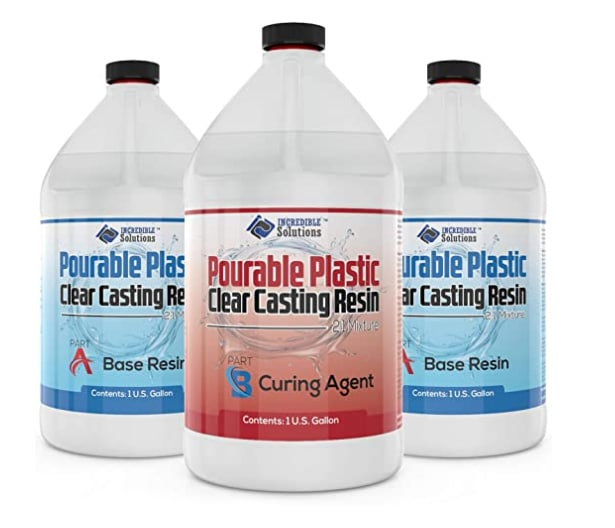 Pourable Plastic Casting Resin 3-Gal Kit