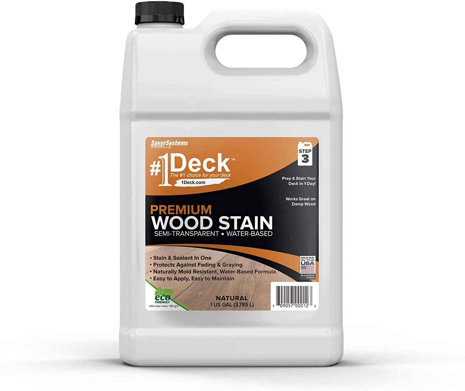 #1 Deck Premium Semi-Transparent Wood Stain