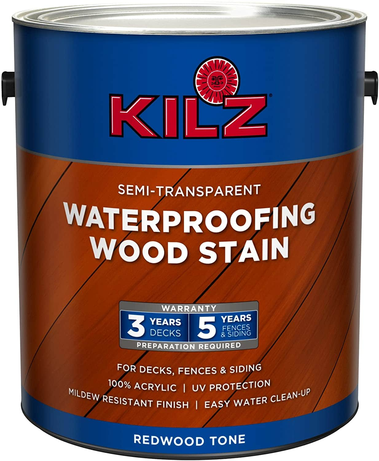 KILZ Semi-Transparent Exterior Waterproofing Wood Stain