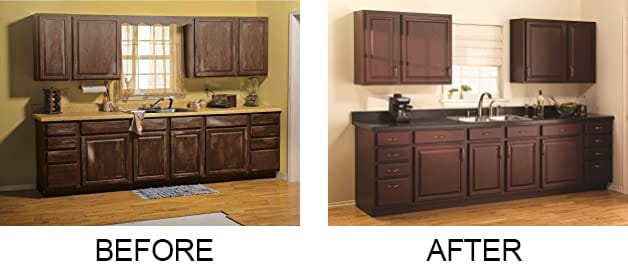 Before After Rust-Oleum Cabinet Transformations