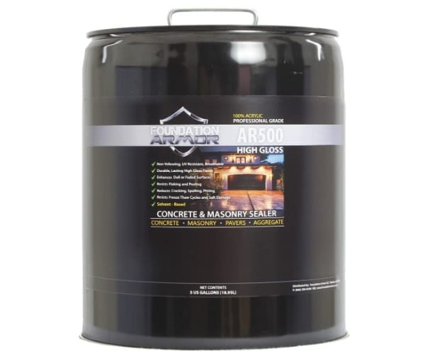 Armor AR500 High Gloss Solvent Based Acrylic Concrete Sealer and Paver Sealer