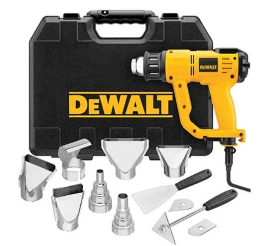 Dewalt Heat Gun with LCD Display & Accessory Kit