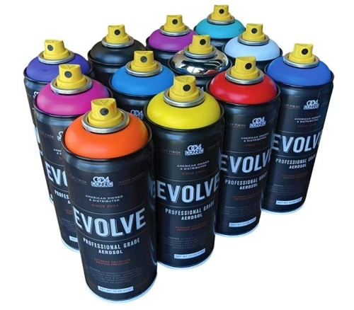 Evolve 12 pack, MTN, Montana, Belton & Molotow & Ironlak Spray Paint Review