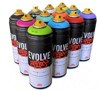 Evolve Elite 12 pack, MTN, Montana, Belton & Molotow & Ironlak Spray Paint Review