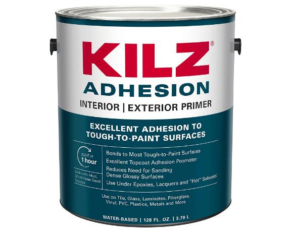 KILZ L211101 Adhesion High-Bonding Interior/Exterior Latex Primer/Sealer