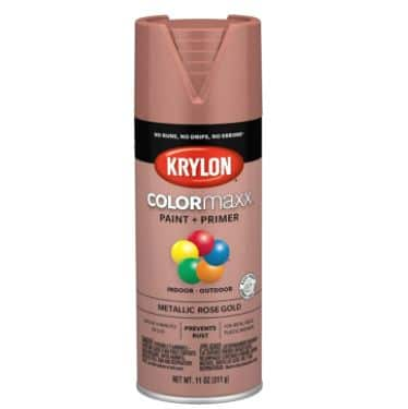 Krylon COLORmaxx Spray Paint and Primer Metallic Rose Gold