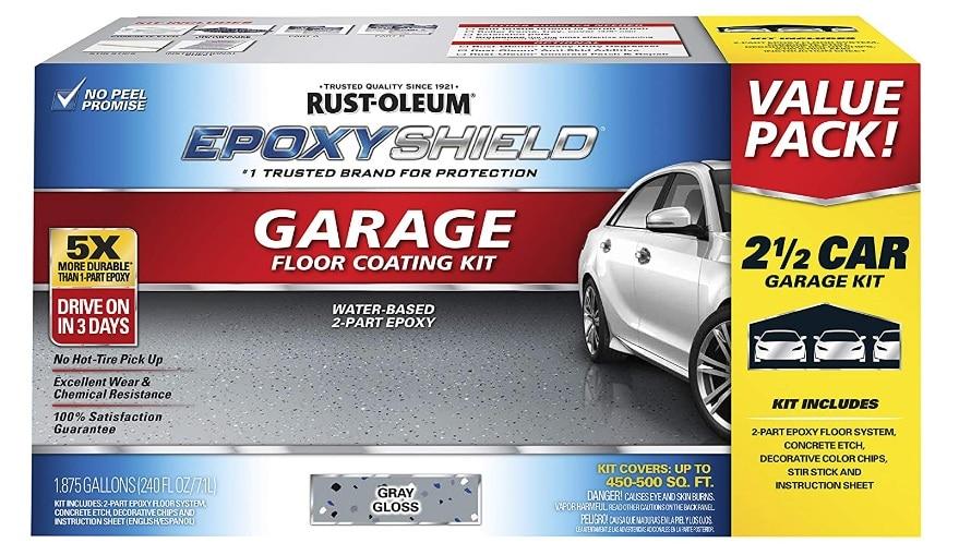 Rust-Oleum 261845 EpoxyShield Garage Floor Coating