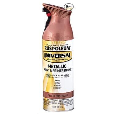 Rust-Oleum Universal Spray Paint 6 Pack Desert Rose Gold