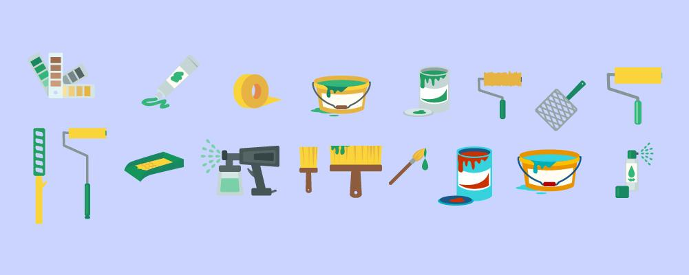 Bunch of Paint tools