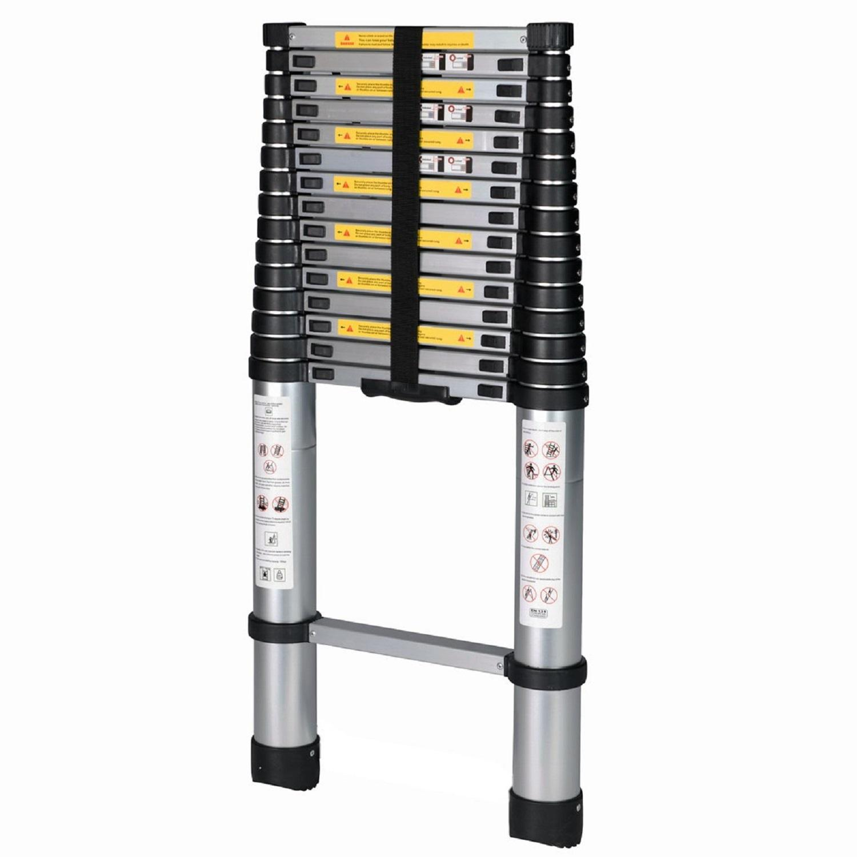 Good Life 15.5 ft Aluminum Telescoping Ladder