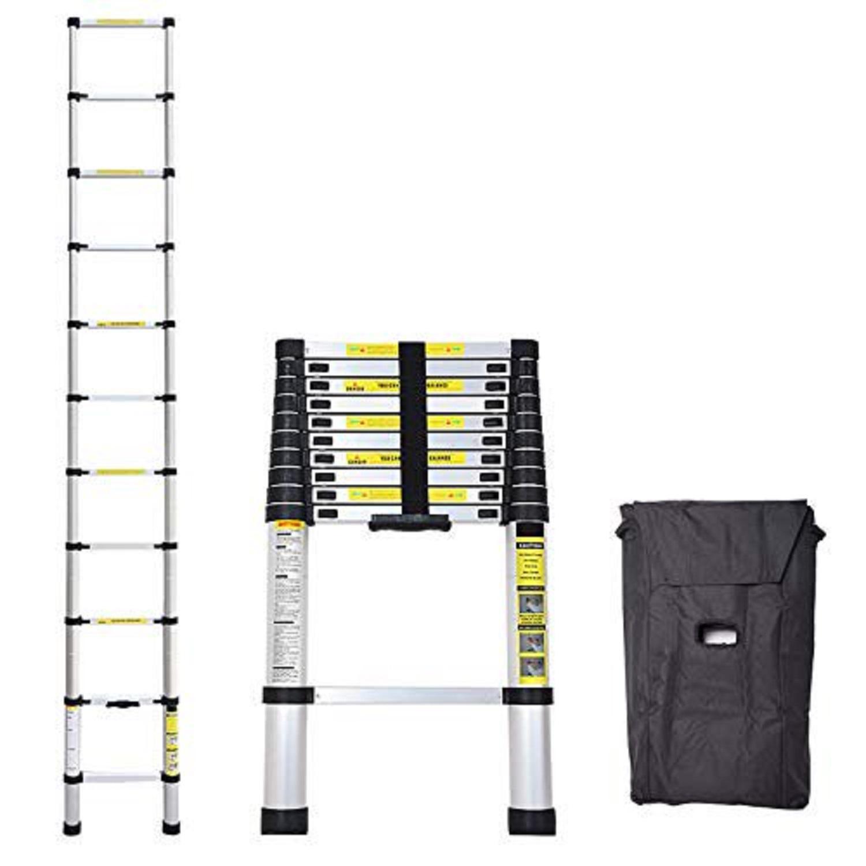 IdealChoiceProduct 10.5 ft Aluminum Telescopic Ladder