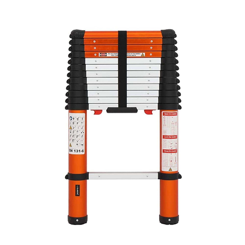 Luisladders 12.5ft Oshion Aluminum Telescoping Ladder