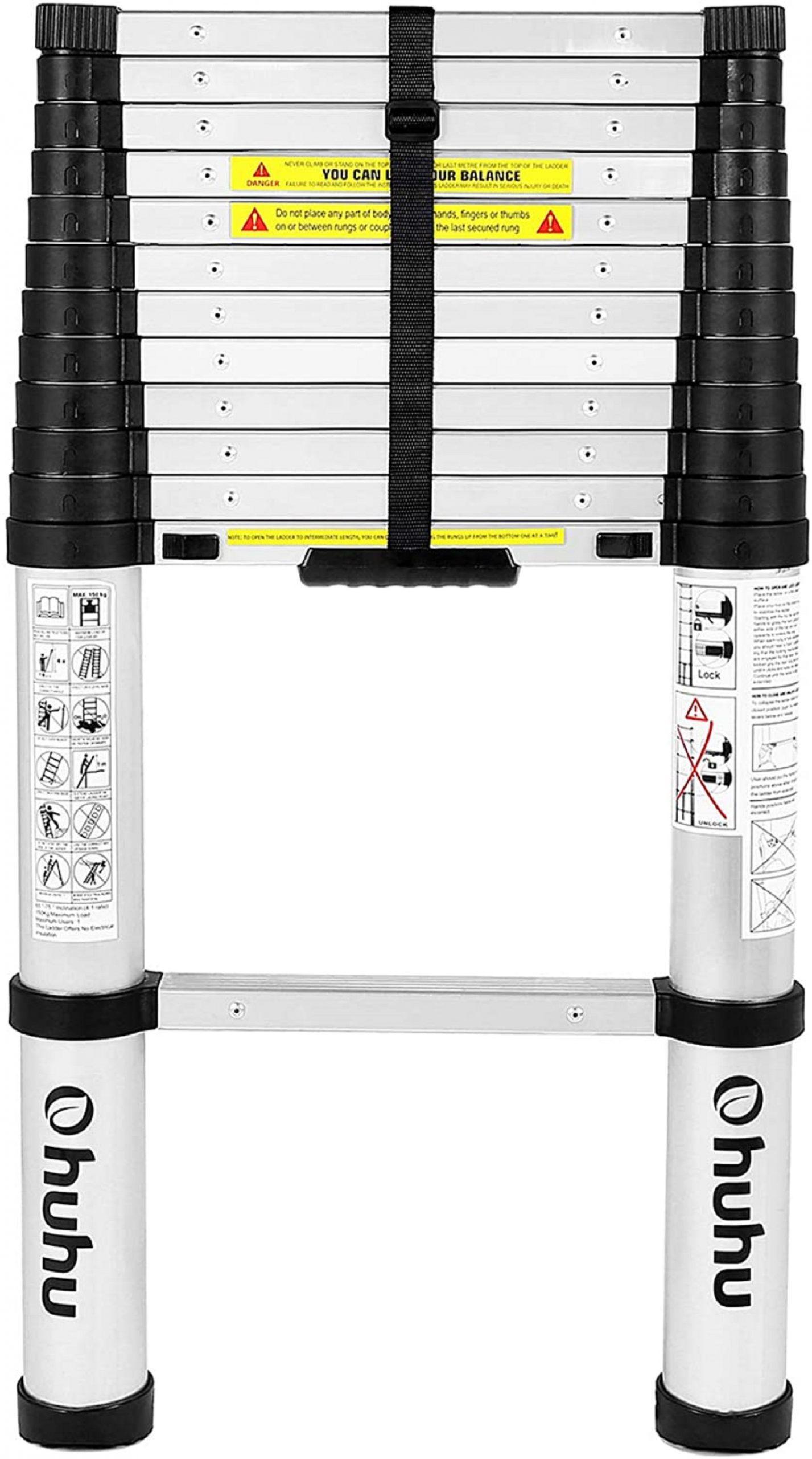 Ohuhu 12.5ft Telescoping Ladder