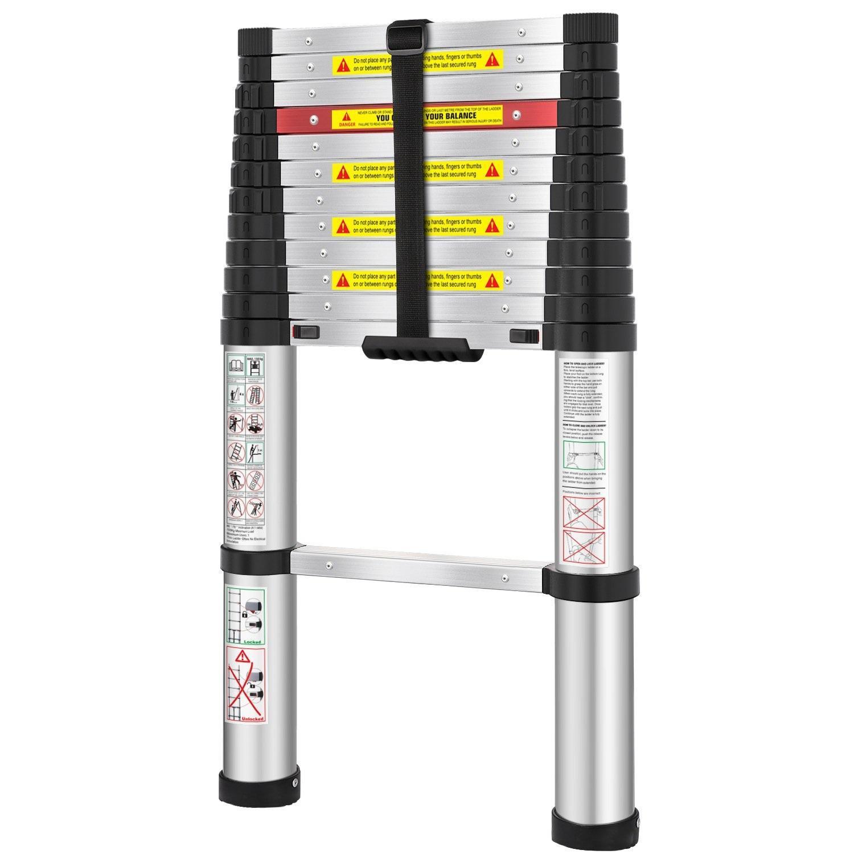 WolfWise 12.5ft Aluminum Telescopic Ladder