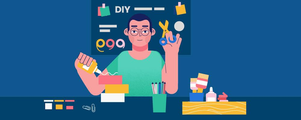 A a guy making a DIY tutorial
